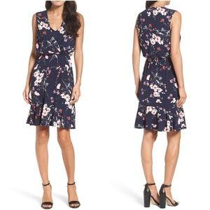 Eliza J Print Surplice Floral Dress 🌸